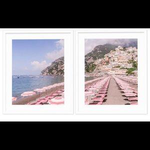 "Framed Positano, Italy Artwork - Size: 11 x 14"""